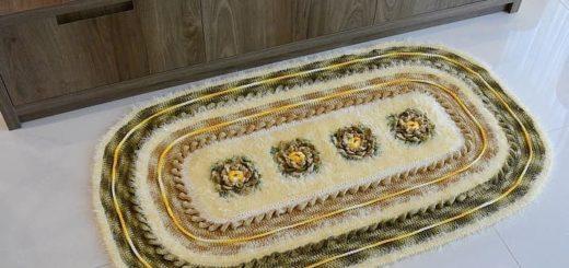 Вязаный коврик в стиле Милитари (3)