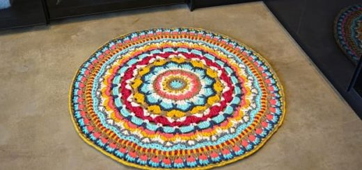 Вязаный крючком коврик «Мандала» (3)