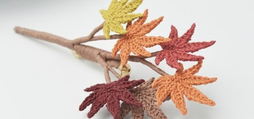 Брошь «Осенние листья» крючком (1)