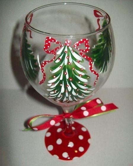 Украшаем бокалы для праздничного новогоднего застолья (1)