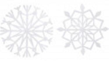 Балерины в снежинках - подвески из бумаги (1)