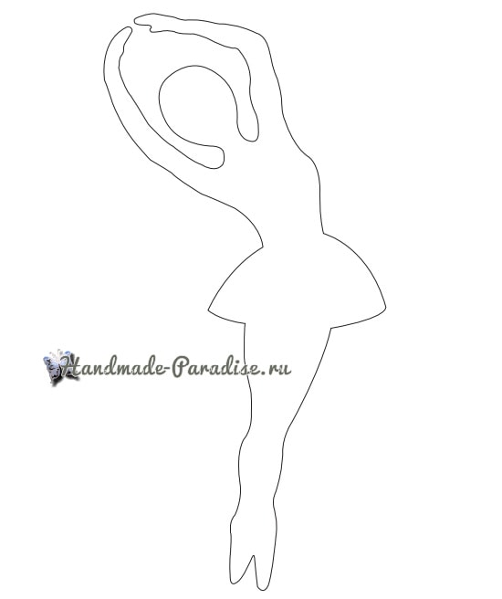 Балерины в снежинках - подвески из бумаги (13)