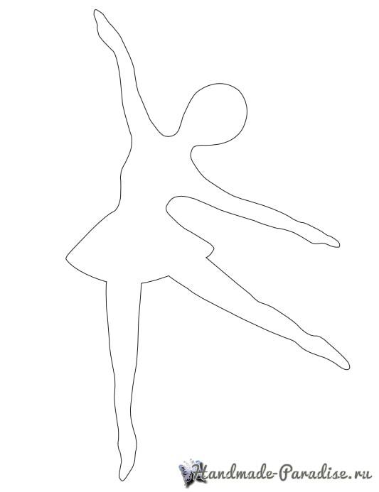 Балерины в снежинках - подвески из бумаги (14)