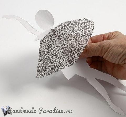 Балерины в снежинках - подвески из бумаги (8)