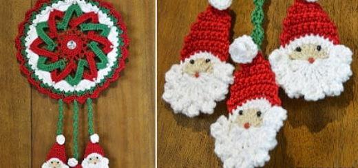 Гирлянда-подвеска крючком с Санта-Клаусами (3)
