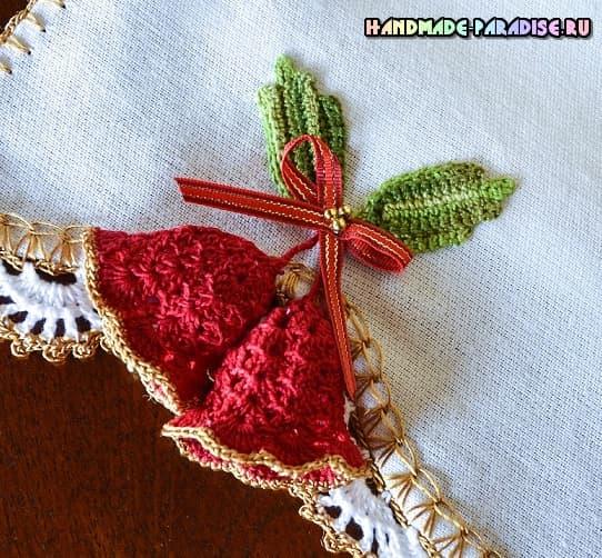 Колокольчики крючком для украшения полотенца (1)