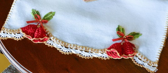 Колокольчики крючком для украшения полотенца (3)