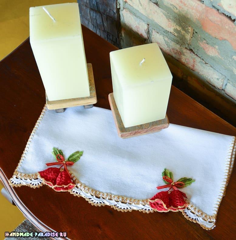 Колокольчики крючком для украшения полотенца (4)