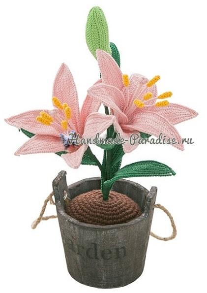 Лилия садовая крючком. Схемы вязания (2)