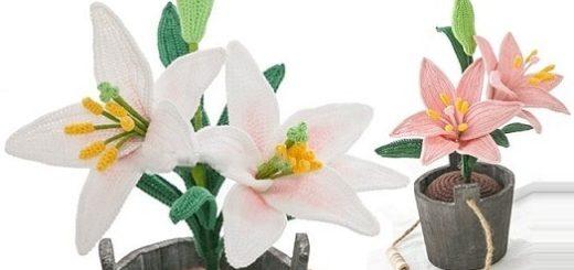 Лилия садовая крючком. Схемы вязания (4)