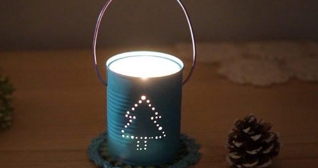 Новогодний фонарик из консервной банки (2)