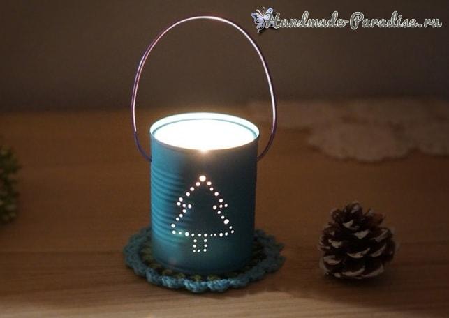 Новогодний фонарик своими руками из консервной банки (2)