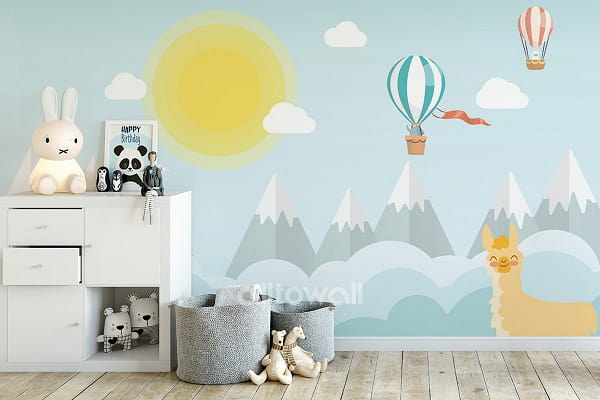 Обои с горами для детской комнаты (1)