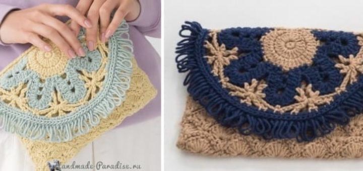 Сумочка-клатч крючком. Схемы вязания (2)