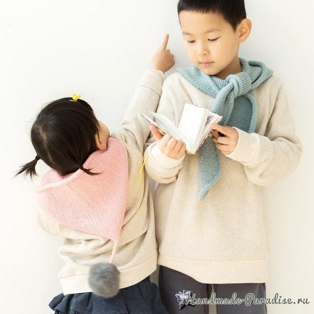Детский шарф с капюшоном. Схемы вязания (2)