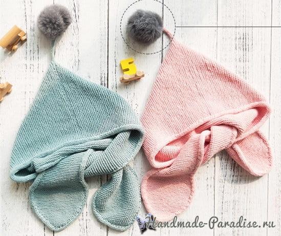 Детский шарф с капюшоном. Схемы вязания (3)