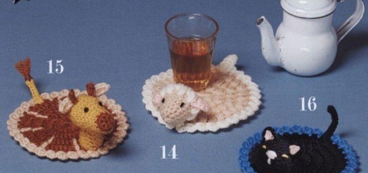 Зверюшка под стаканом. Детские подстаканники крючком (1)