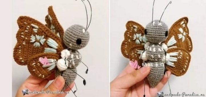 Бабочка - описание вязания крючком (1)