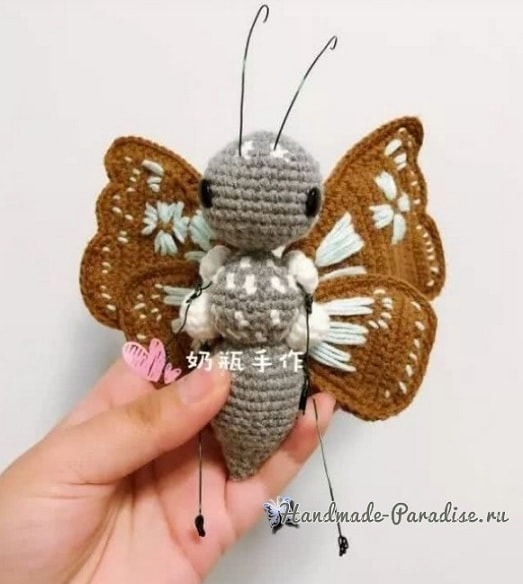 Бабочка - описание вязания крючком (2)