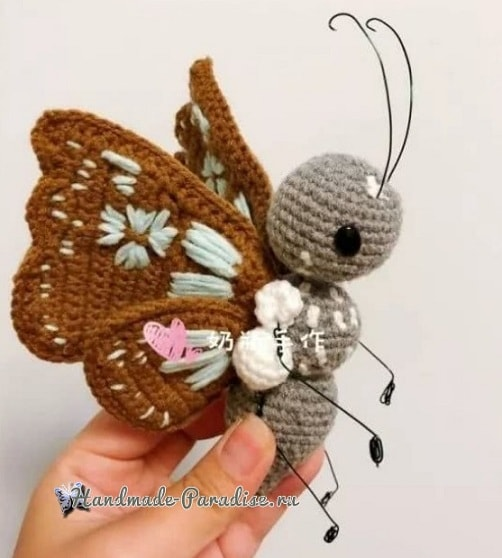 Бабочка - описание вязания крючком