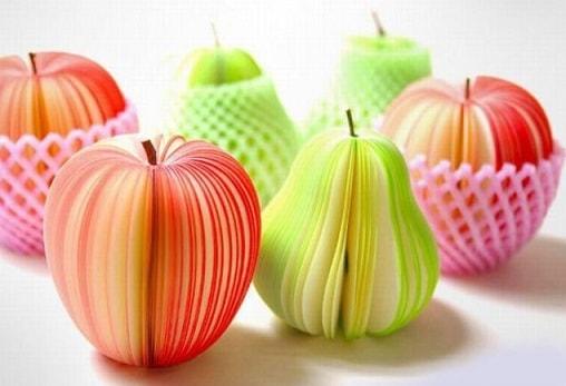 фрукты из бумаги