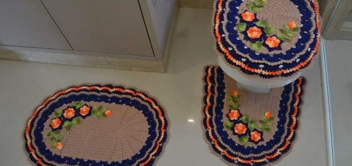 Комплект ковриков для ванной крючком (2)