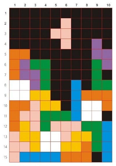 Плед крючком из разноцветных квадратов (6)