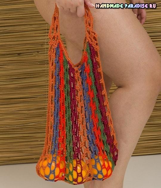 Стильная сумочка-авоська крючком (1)