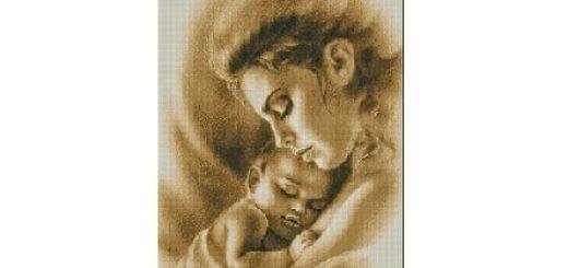 Схемы вышивки «Мать и дитя»