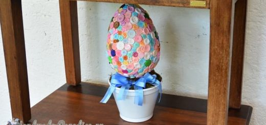 Топиарий «Пасхальное яйцо в пуговицах» (1)