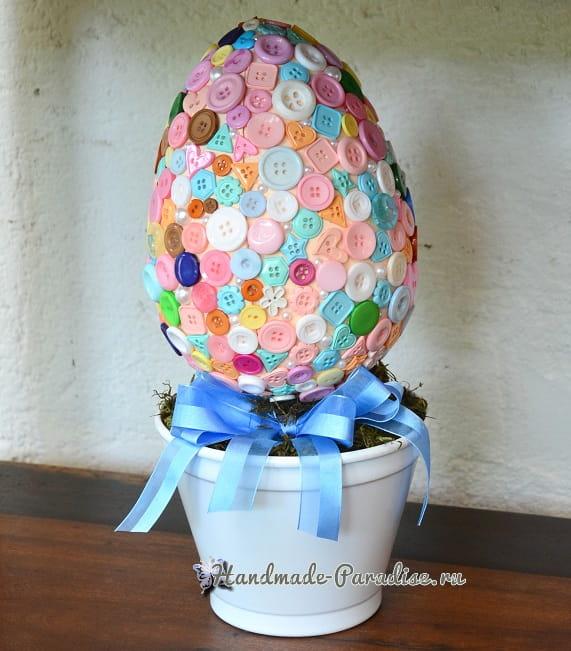 Топиарий «Пасхальное яйцо в пуговицах» (2)