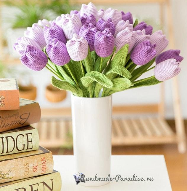 Весенние тюльпаны крючком. Схемы вязания (1)