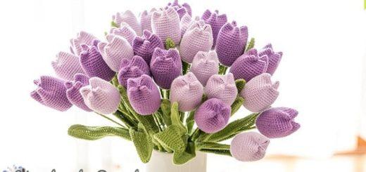 Весенние тюльпаны крючком. Схемы вязания (2)
