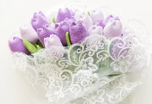 Весенние тюльпаны крючком. Схемы вязания (3)