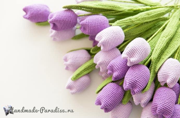Весенние тюльпаны крючком. Схемы вязания (4)