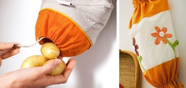 Шьем органайзер для пакетов на кухне (2)