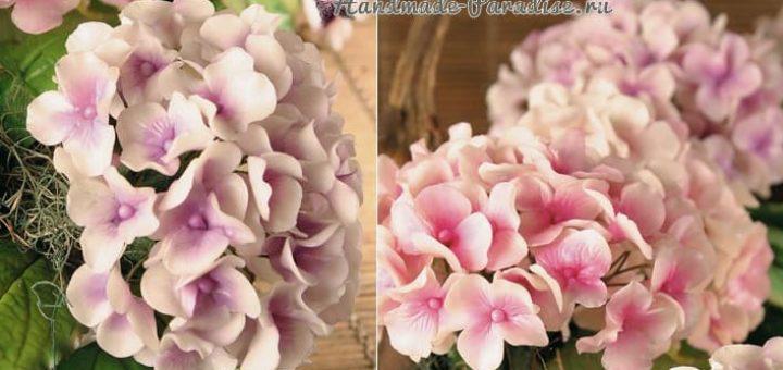 Цветы гортензии из холодного фарфора (1)