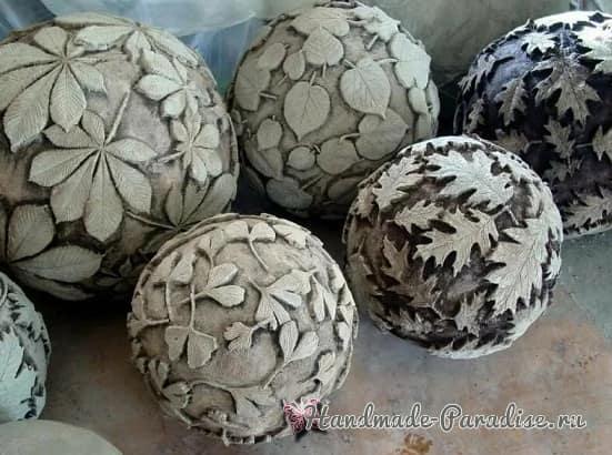 Бетонные шары своими руками для интерьера (1)