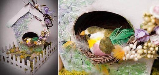 Handmade из картона - домик для птички (1)