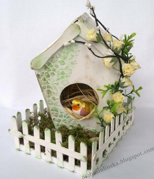 Handmade из картона - домик для птички (2)