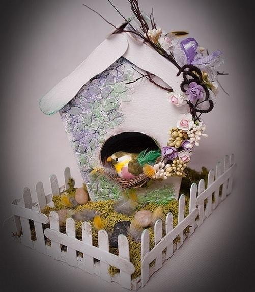 Handmade из картона - домик для птички (3)