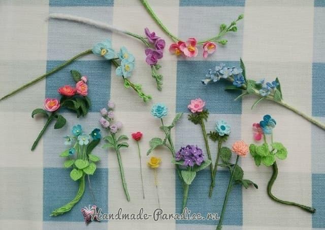 Вяжем крючком цветы. Схемы вязания (1)