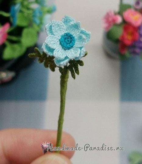 Вяжем крючком цветы. Схемы вязания (2)