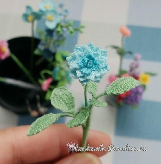 Вяжем крючком цветы. Схемы вязания (3)