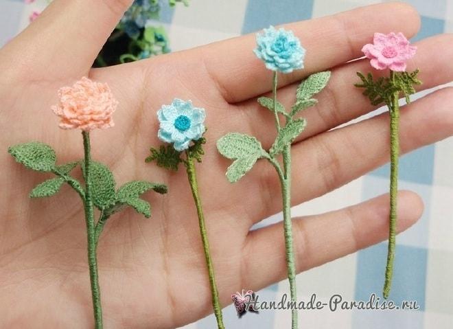 Вяжем крючком цветы. Схемы вязания (4)