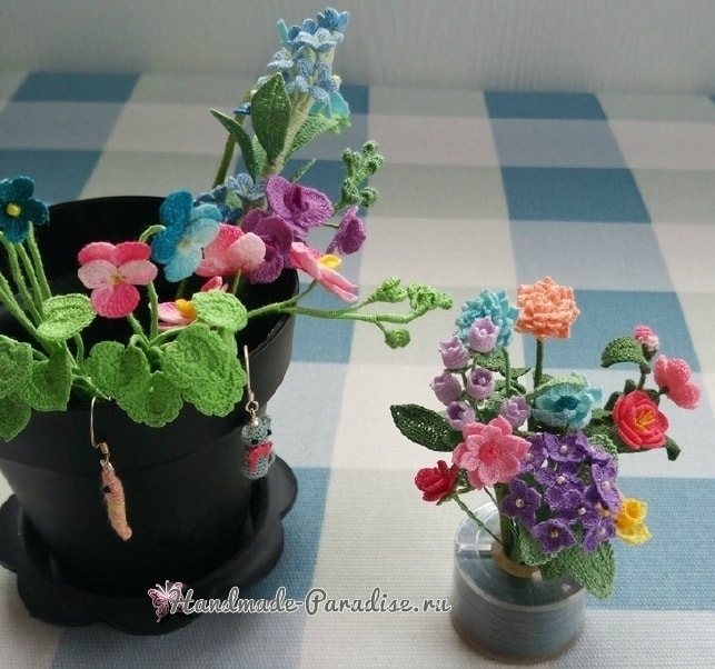 Вяжем крючком цветы. Схемы вязания (5)