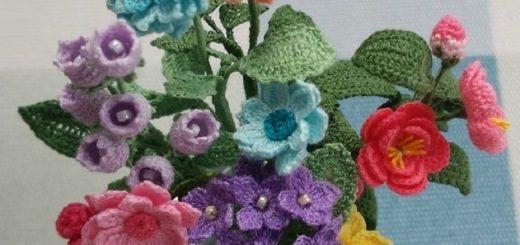 Вяжем крючком цветы. Схемы вязания (6)
