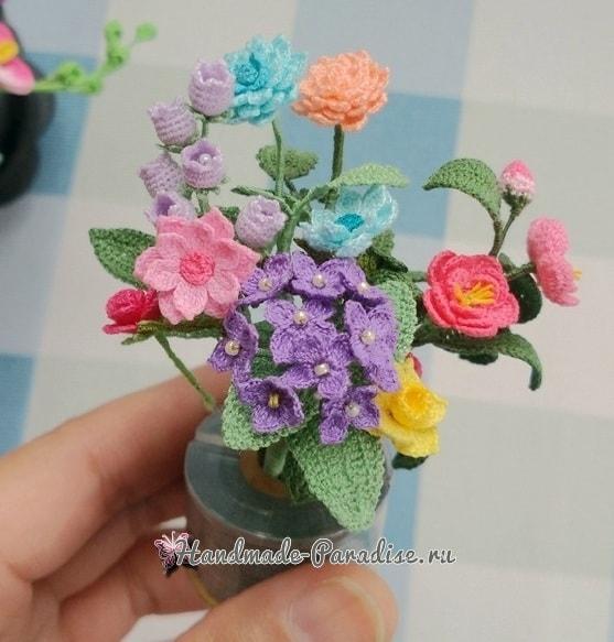 Вяжем крючком цветы. Схемы вязания (7)