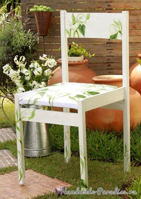 Декупаж на кухонных стульях (1)