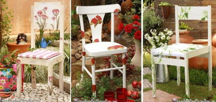 Декупаж на кухонных стульях (2)